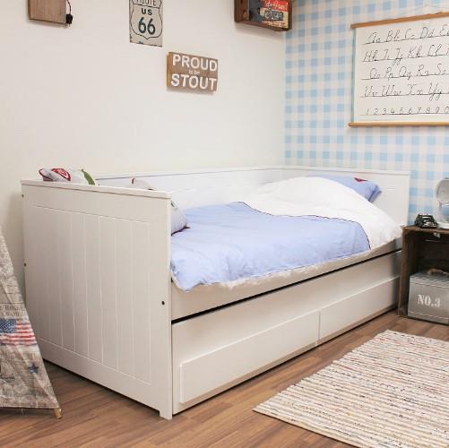 Nanne bedbank met opberglades en een slaaplade - Bed voor een klein meisje ...