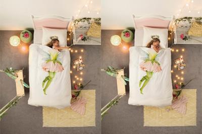 Fairy dekbedovertrek in gebruik