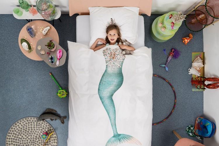 Mermaid dekbedovertrek in gebruik