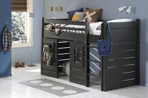Kinderkamers en tienerkamers bij meubelzone - Hoogslaper tiener met kantoor en opslag ...