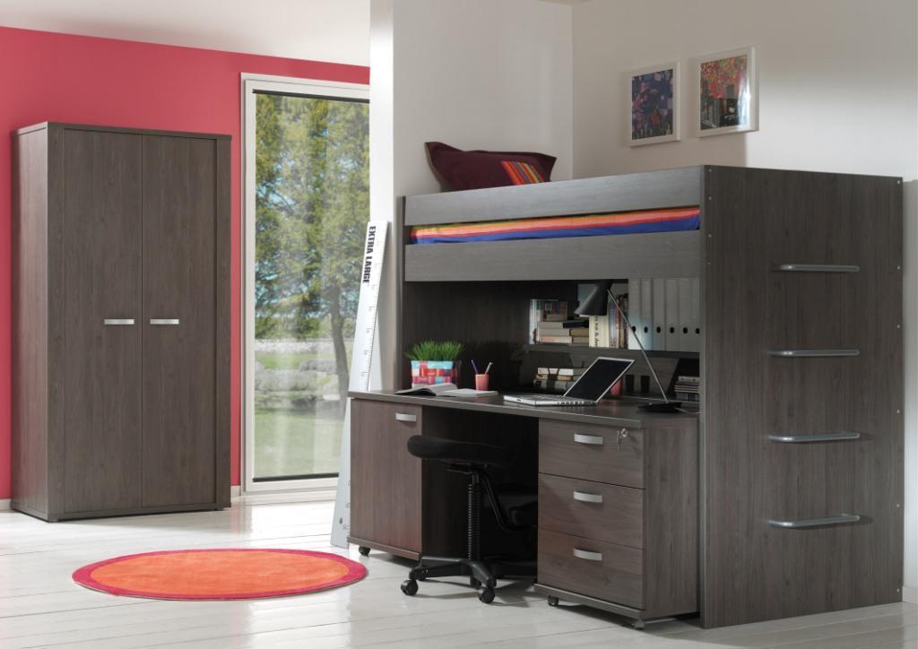 Kinderkamers en tienerkamers bij meubelzone - Tiener meisje mezzanine slaapkamer ...