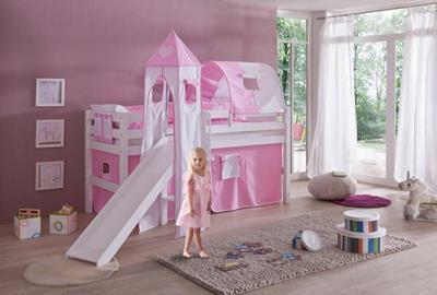 Eliyas Halfhoogslaper roze/wit