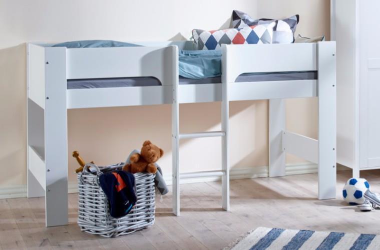flexa basic modern halfhoogslaper wit. Black Bedroom Furniture Sets. Home Design Ideas