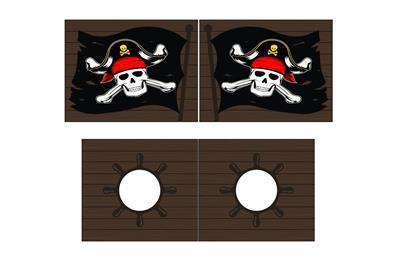 Speelgordijnenset Caribian Pirates