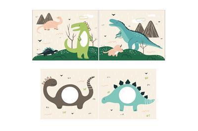 Speelgordijnenset Dino
