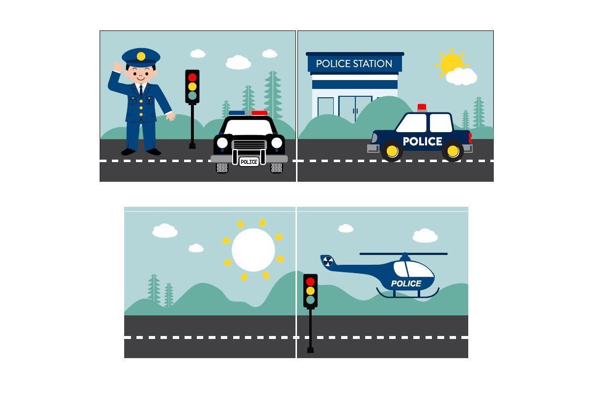 Speelgordijnenset Police