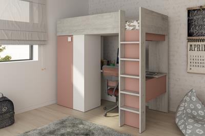 Studio hoogslaper cascina-wit-oud roze