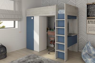 Studio hoogslaper cascina-wit-smokey blue