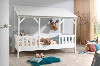 Huisbed met wit dak