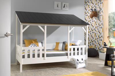 Huisbed met zwart dak