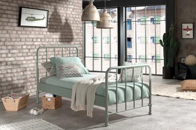 Bronxx metalen bed mat olive green