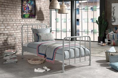 Bronxx metalen bed mat rainy grey