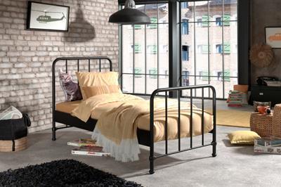 Bronxx metalen bed mat zwart
