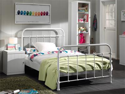 New York Metalen Kinderbed 120/200 Wit