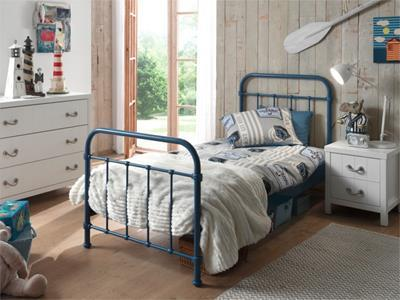 New York Metalen Kinderbed 90/200 Blauw