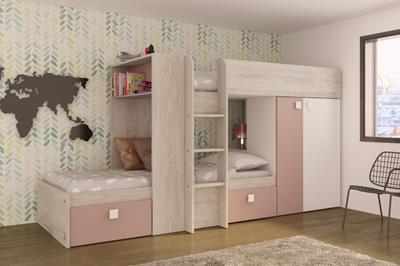 Maxim stapelbed antique pink