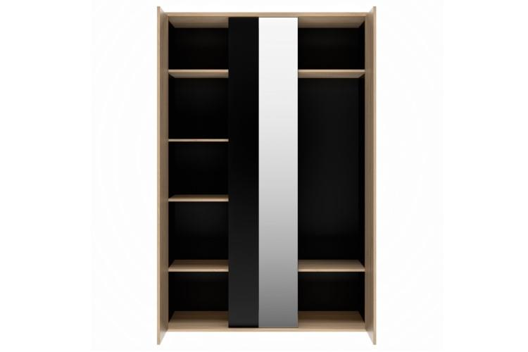 Duplex 3-deurskast vooraanzicht open