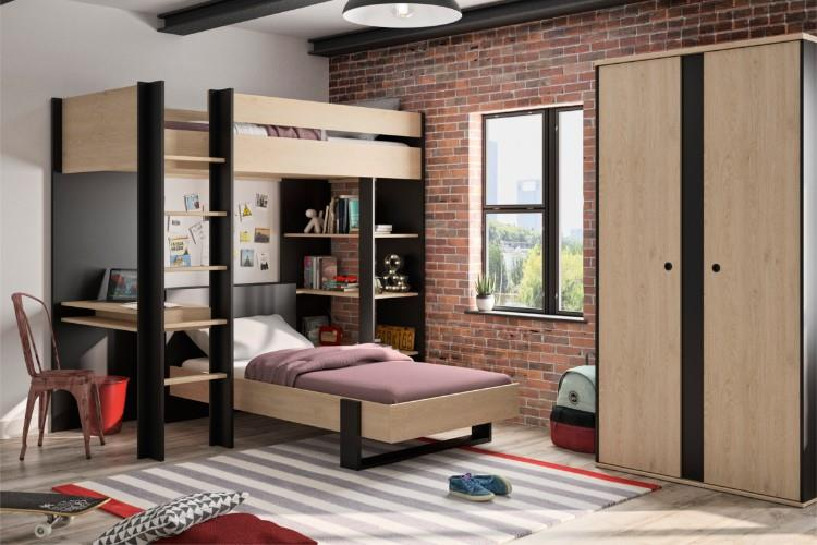 Duplex hoogslaper sfeerimpressie met bed