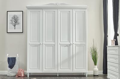 Lora 4-deurs kledingkast