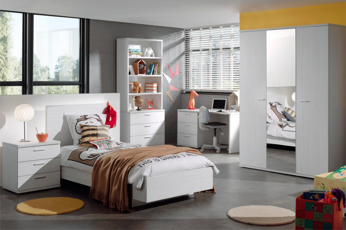 nieuw op onze site helga tienerkamer wit eik. Black Bedroom Furniture Sets. Home Design Ideas
