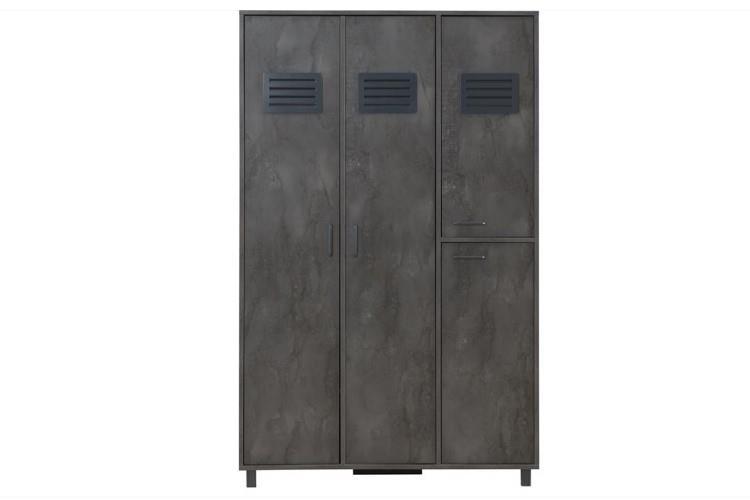 Iron 3-deurs kast