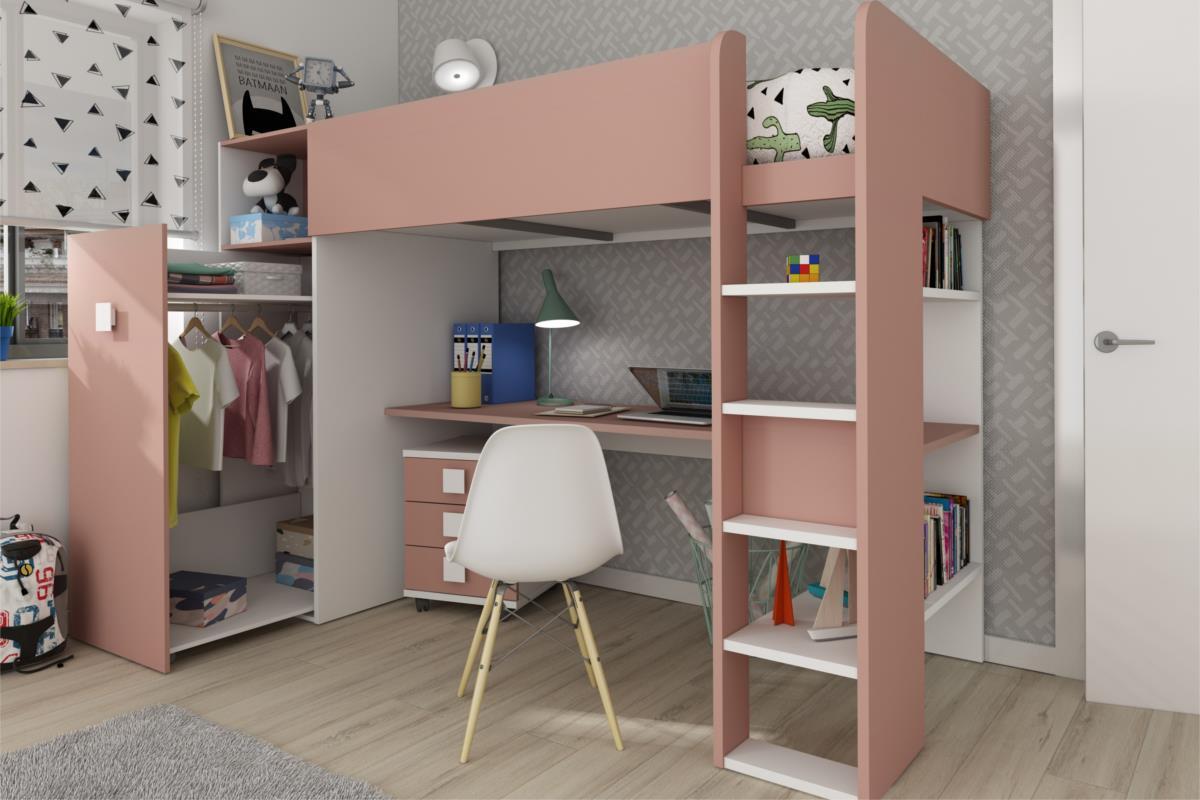 Jules aanbouwkast antique pink