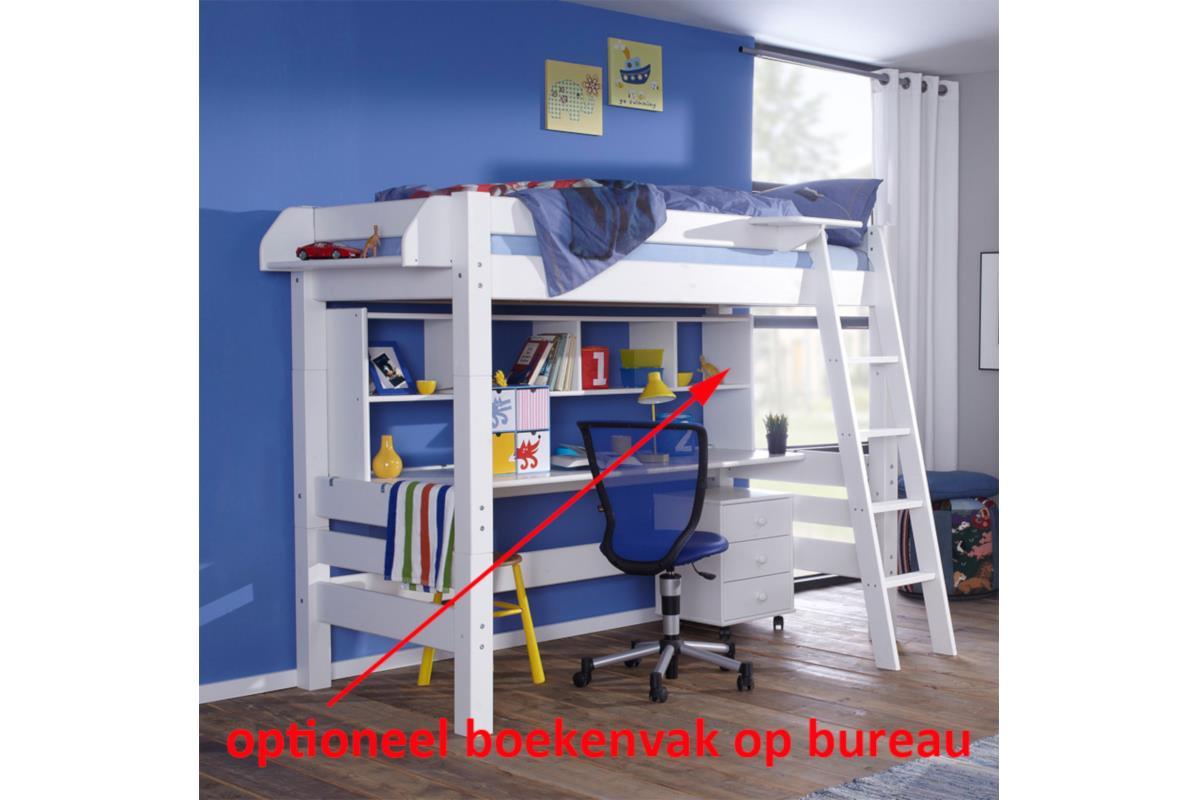 Nova hoogslaper met bureau en boekenvak