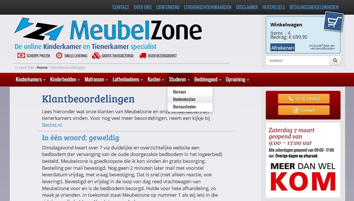 Website Meubelzone compleet vernieuwd