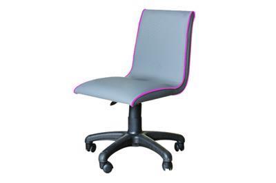 Smart bureaustoel grijs/fuchsia